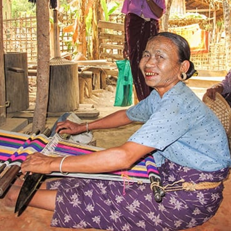 Chase | Burma - H 9080 Chin weaving in a small village outside Mrauk